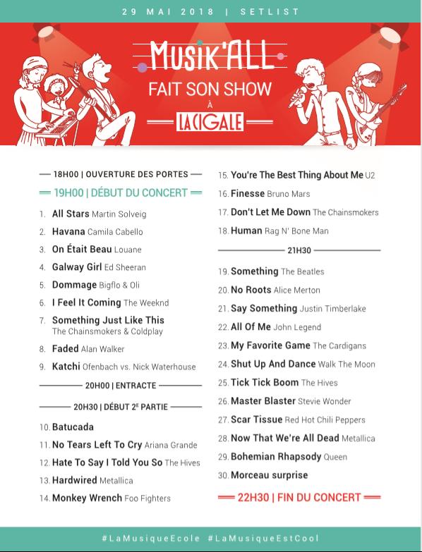 set list concert